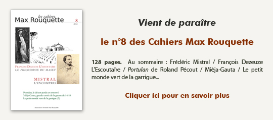 Cahiers Max Rouquette n°8