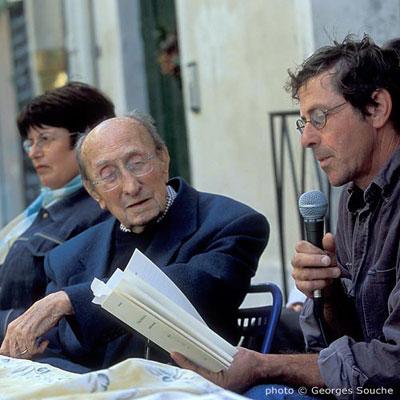 Avec J-Paul Creissac et Josiane Ubaud, journées Max Rouquette, 2004 (photo G.So