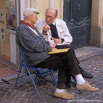 Avec Max Allier, Montpellier, 2002