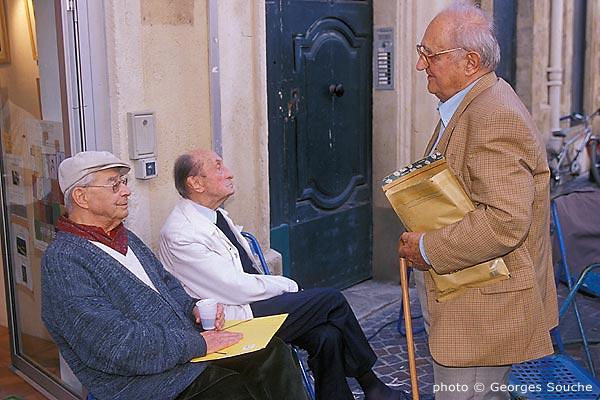 Avec Max Allier et Robert Lafont, Montpellier, 2002 (photo G.Souche)