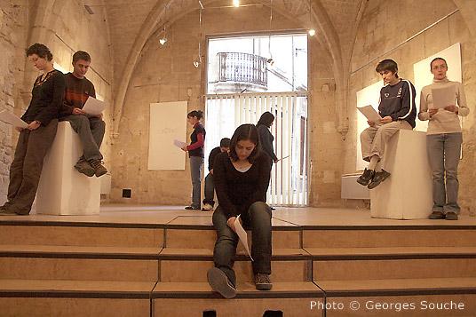 07/03/08. Montpellier, salle St Ravy. Lectures par des étudiants de l'UPV
