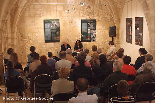 01/06/08. Salle St Ravy. Conférence de J-C Forêt avec M-C Brambilla