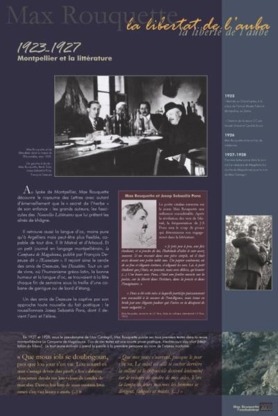 Exposition Max Rouquette l'enchanteur : Montpellier et la littérature