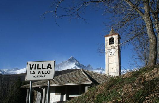 L'église d'Ostana où sera jouée La Pastorala dels Volurs