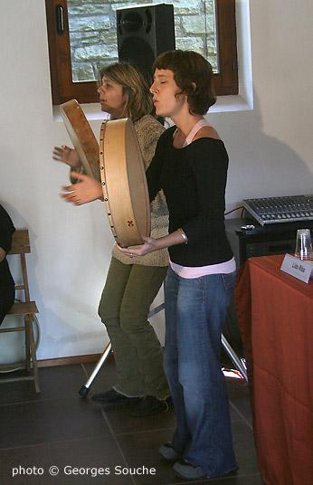 Le duo Trobairitz d'òc rythmera ces journées avec talent