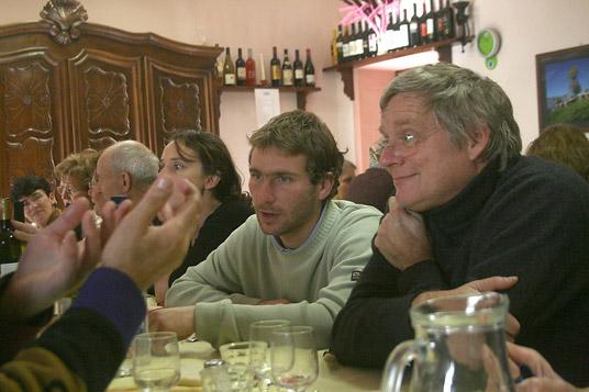 Dimanche, midi. Peire Aghilante et Jean-Frédéric Brun