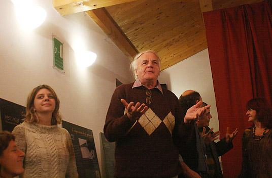 Giacomo Lombardo, maire d'Ostana, et sa fille